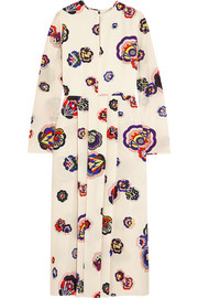 MSGM Printed silk dress