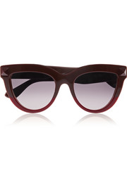 Rockstud cat-eye acetate sunglasses