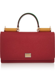 Dolce & Gabbana Lipstick textured-leather shoulder bag