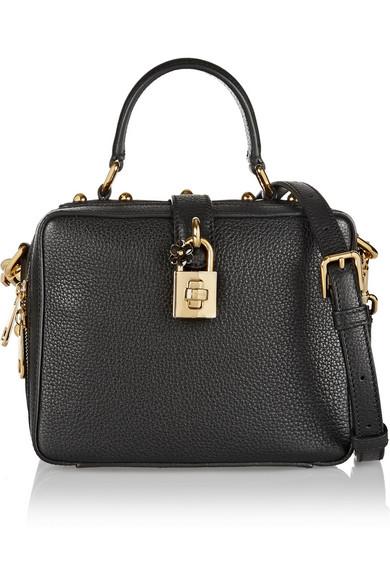 d43b652993 Dolce   Gabbana. Rosaria mini textured-leather shoulder bag