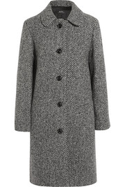 Peel wool-blend tweed coat