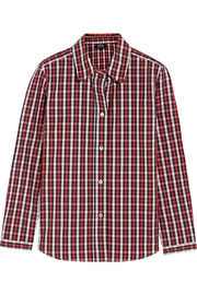 Mike plaid cotton-poplin shirt