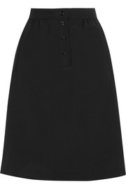 Marine wool-twill skirt