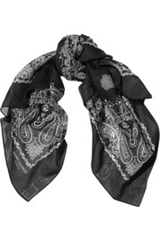 Saint Laurent Printed cotton scarf