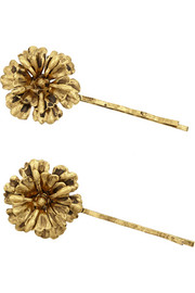 Jennifer Behr Desert Rose gold-tone hair slides
