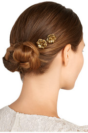 Desert Rose gold-tone hair slides