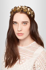 Poppy gold-tone headband
