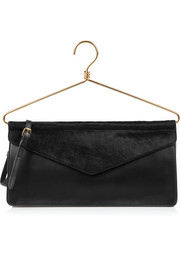 Moschino Calf hair and leather shoulder bag