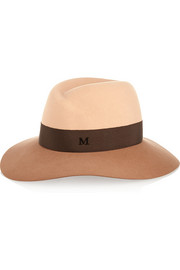 Maison Michel Virginie two-tone rabbit-felt fedora