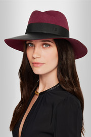 Virginie rabbit-felt and leather hat