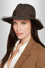 Henrietta Chantilly lace and rabbit-felt fedora