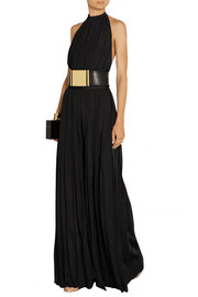 Pleated stretch-jersey jumpsuit