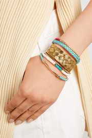 Copacabana gold-plated and cotton cuff