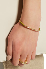 Soho gold-plated and cotton cuff