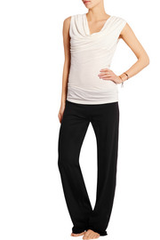 Stretch Pima cotton-blend jersey pants