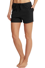 Pima cotton-blend jersey pajama shorts