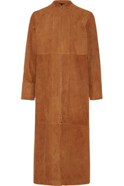 The Row Luri paneled suede coat