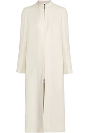 The Row Zuri linen-burlap coat