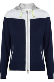 Stretch-jersey hooded jacket
