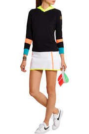 Perforated stretch-neoprene tennis skirt