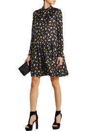 Rochas Printed silk-twill dress