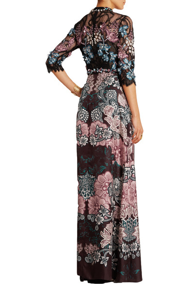 bfbb18bf8b2a Iyeoka embroidered tulle and floral-print satin gown. HK 9
