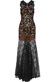 Emilio Pucci Chantilly lace and tulle gown