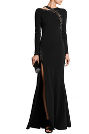 Emilio Pucci Eyelet-embellished stretch-crepe gown
