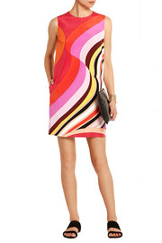 Emilio Pucci Printed silk-cady mini dress