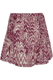 Adele printed georgette mini skirt