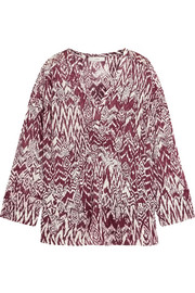 Caskey printed voile top