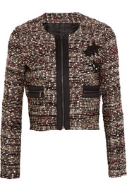Suzie appliquéd bouclé-tweed jacket
