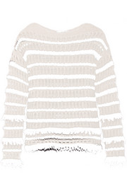 Dana striped open-knit sweater