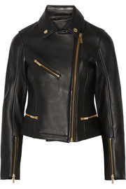 Odina leather biker jacket