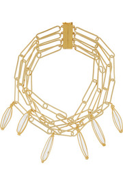Tiana gold-tone rock crystal necklace