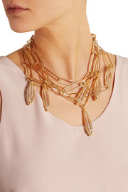 Rosantica Tiana gold-tone rock crystal necklace