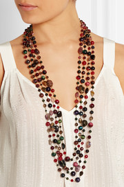 Prateria gold-tone, quartz and tourmaline multi-strand necklace