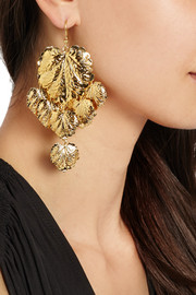 Rosantica Sottobosco gold-tone leaf earrings