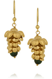 Pigne gold-tone quartz earrings