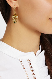 Rosantica Pigne gold-tone quartz earrings