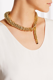 Rosantica Anaconda gold-tone quartz necklace