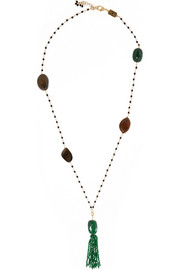 Pineta gold-tone multi-stone necklace