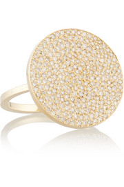 Large Circle 18-karat gold diamond ring