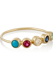 18-karat gold multi-stone ring