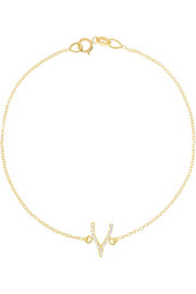 18-karat gold diamond wishbone bracelet