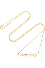 Mommy 18-karat gold necklace