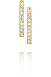 18-karat gold diamond bar earrings