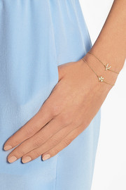 18-karat gold diamond four-leaf clover bracelet