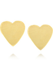 18-karat gold heart earrings