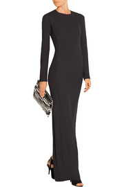 Stretch-crepe maxi dress